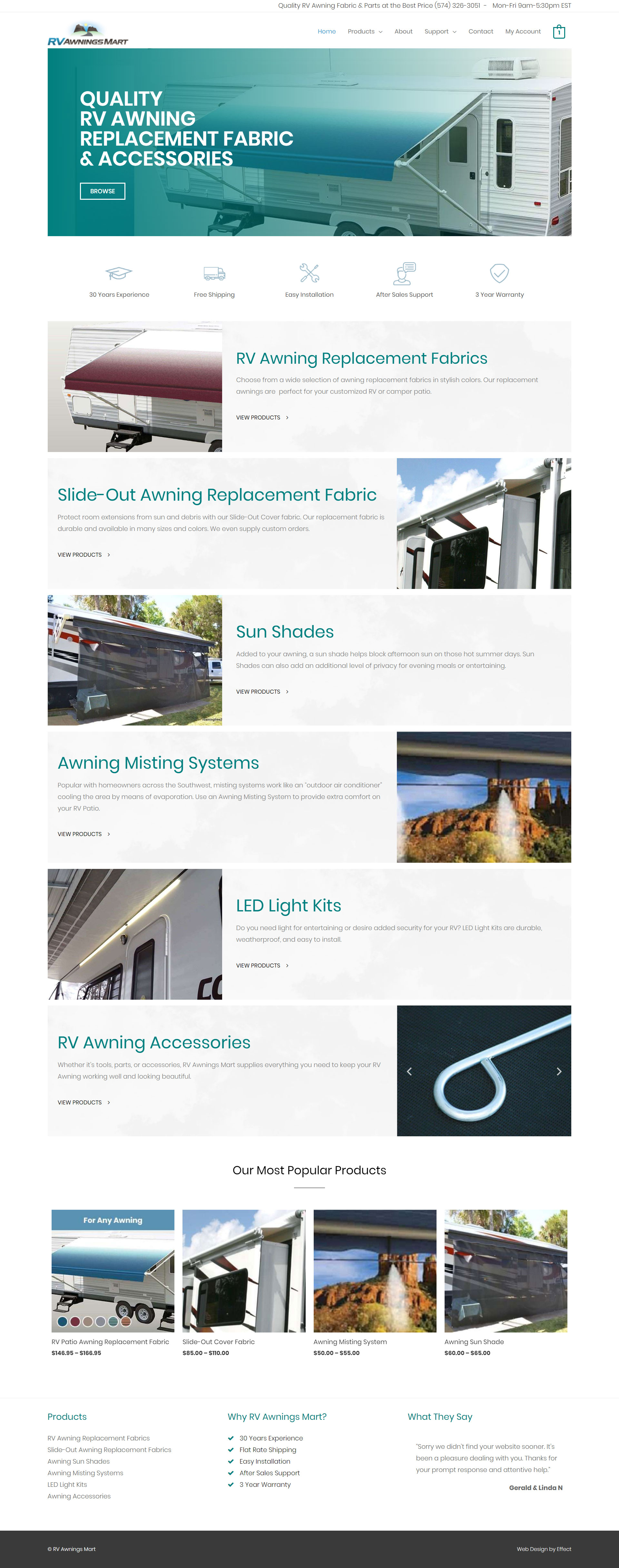 RV Awnings Mart - Elliot Rowe Web Design